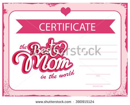 Gift Certificates Samples Alluring Template Vector Certificate Best Mom In The Worlda Gift .