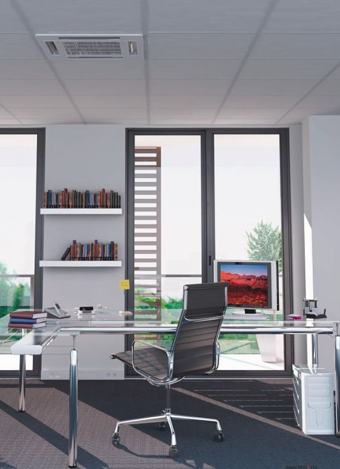 Aire acondicionado split cassette de techo ideal para for Techos livianos para viviendas