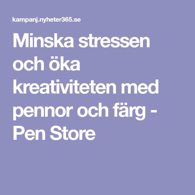Minska stressen och öka kreativiteten med pennor och färg - Pen Store  b2a13d70642ea