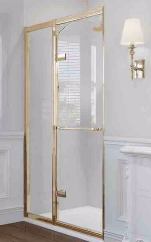 Gold Framed Aqata Exclusive Solutions Sliding Shower Door 1100mm Gold Shower Door Framed Shower Enclosures Shower Doors