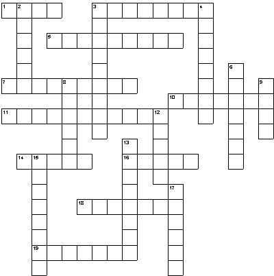 Make Your Own Crossword Puzzles Just make up your own clues - blank crossword template