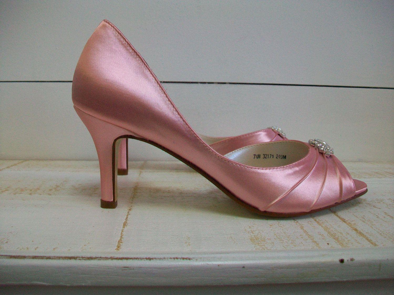 Wedding Shoes Pink Bridal Bridesmaid Rose 112 00 Via Etsy