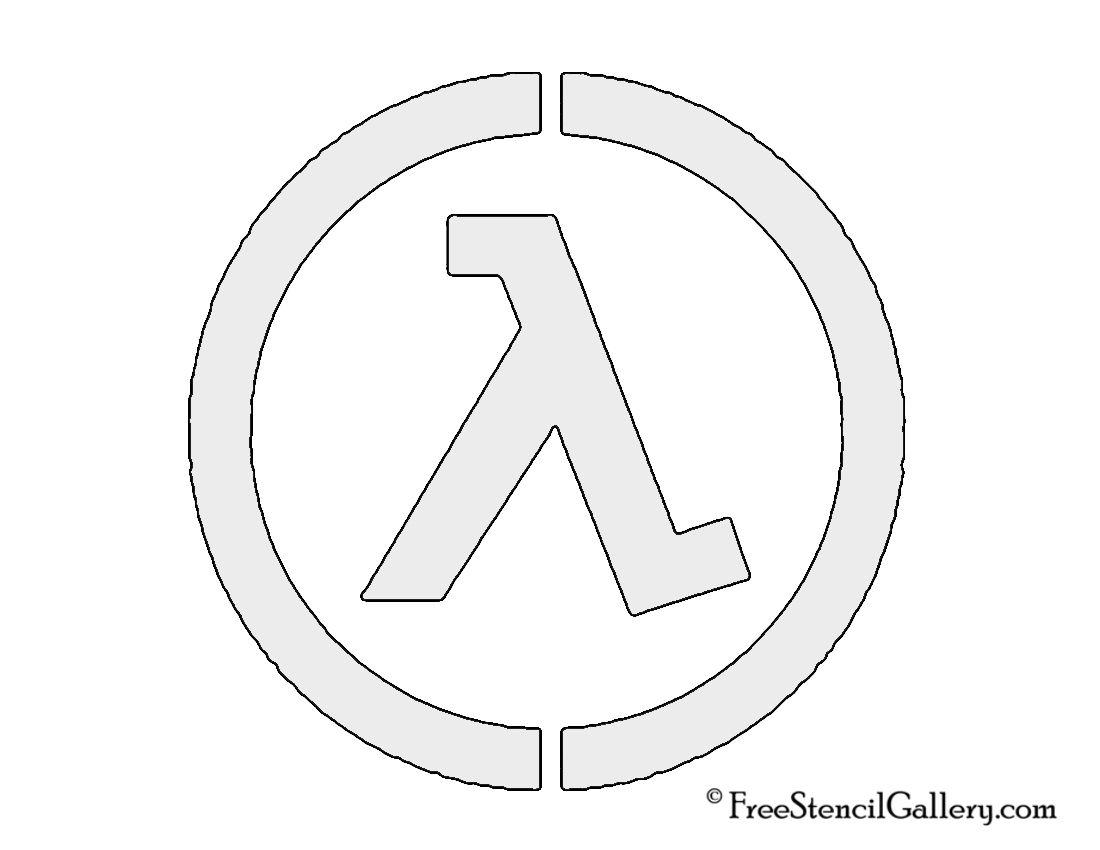 Half Life Lambda Complex Logo Stencil Emblems Pinterest