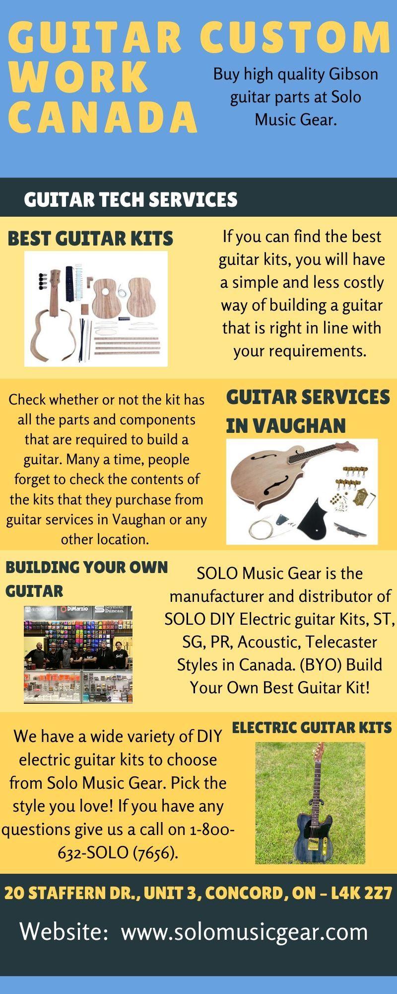 Guitar Custom Work Canada Solo Music Guitar Tech Guitar Kits