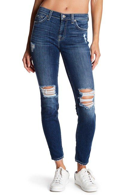 A Must Have 7 For All Mankind Gwenevere Distressed Skinny Ankle