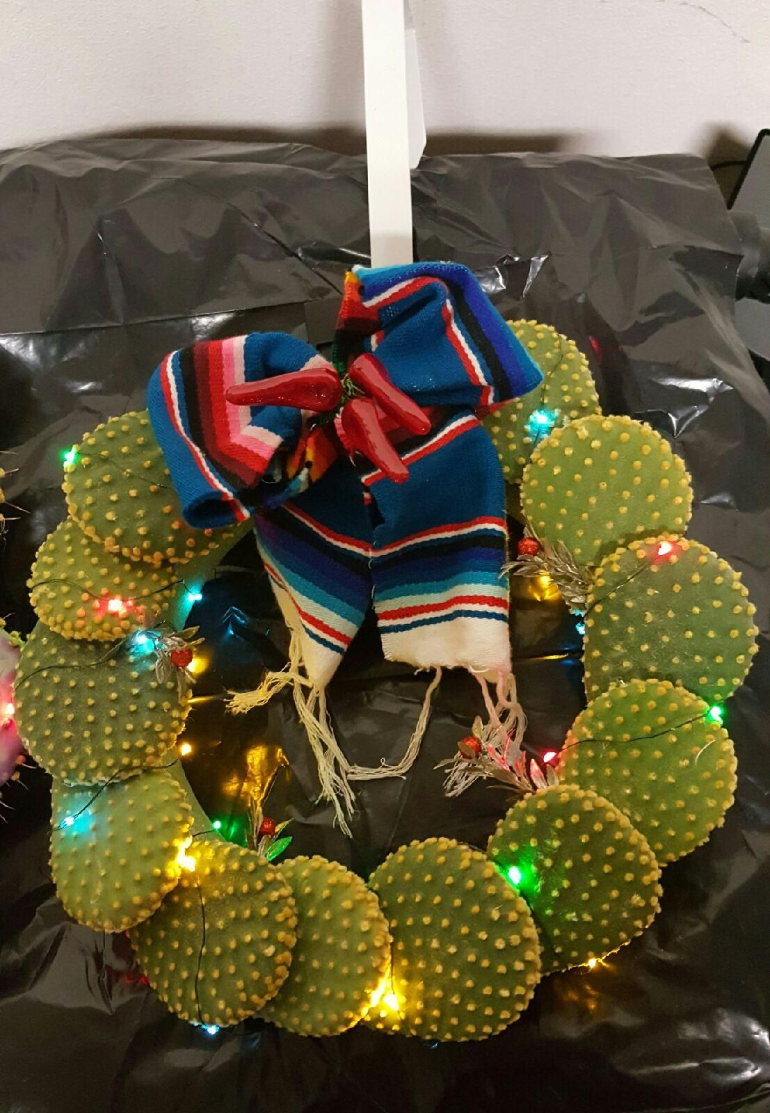 Another beautiful Holiday Cactus wreath from El Paso Texas ...