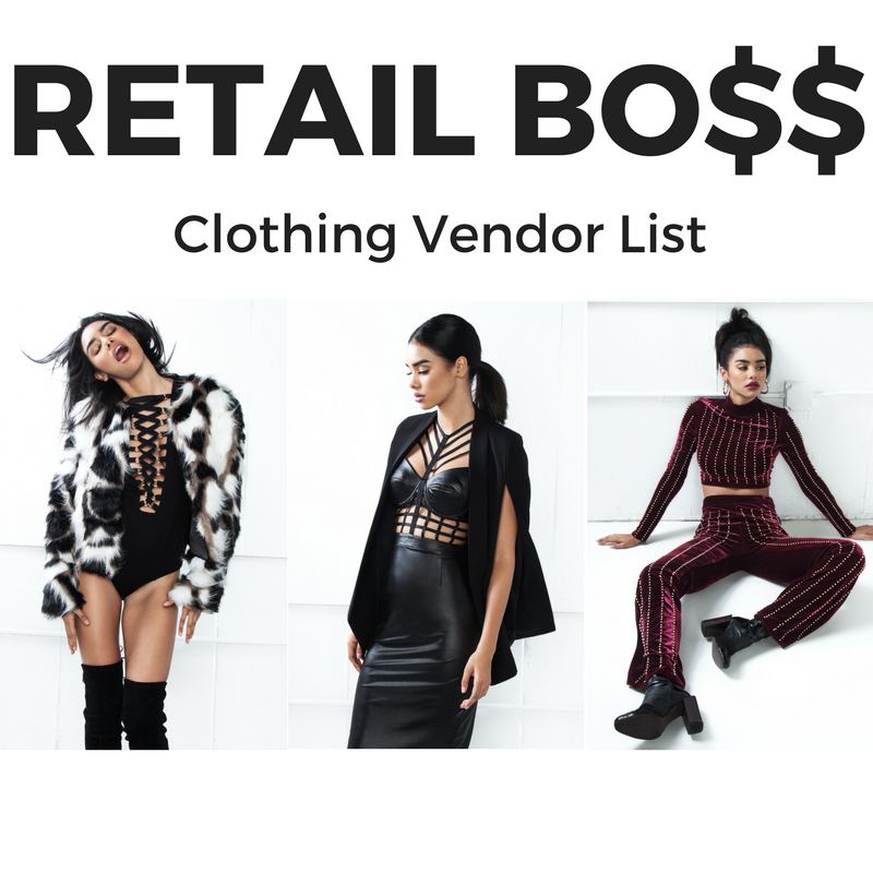 Clothing Vendor List (Shoe Vendors Included)