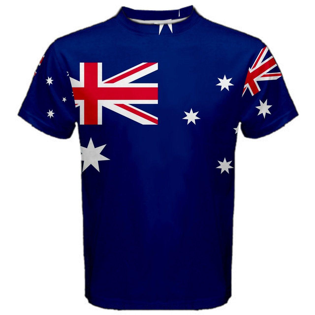New australia national flag sublimated mens sport full