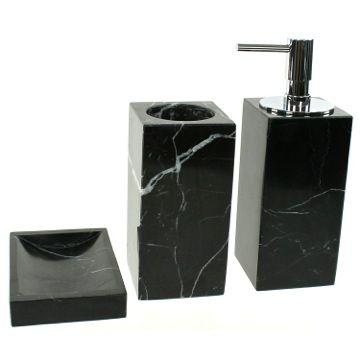 Black Marble Bathroom Accessory