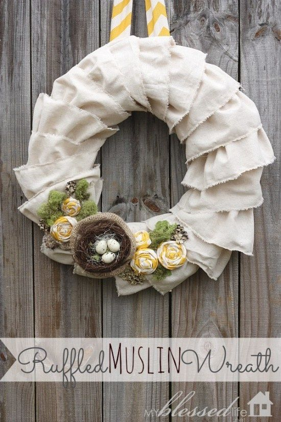 Ruffled Burlap   Seasonal Decorating Ideas   Spring And Summer Wreaths