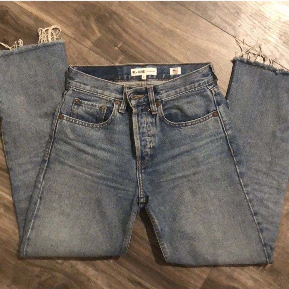 620f37ce Re/Done Stove Pipe Denim in color Light Vein! SOLD OUT IN - Depop ...