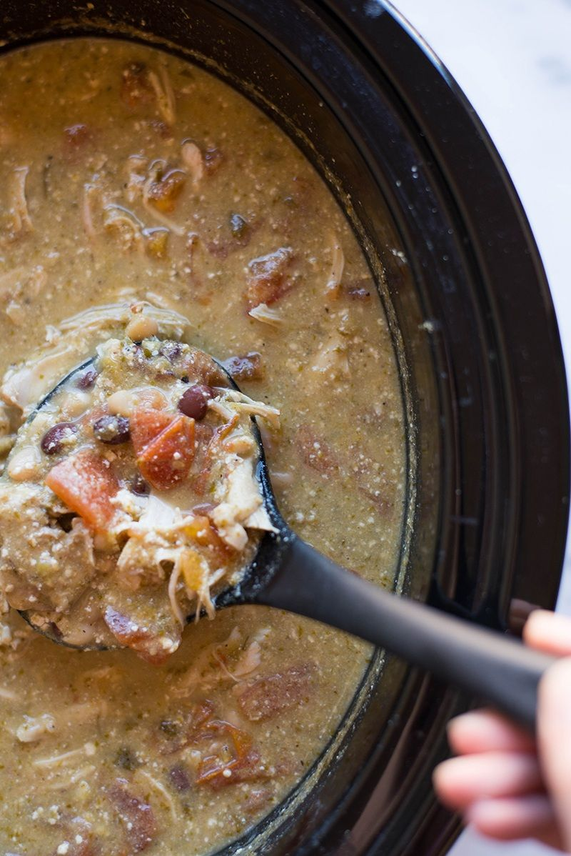 Crock Pot Chicken Enchilada Soup | Easy to make and perfect for a cold day! | A Sweet Pea Chef