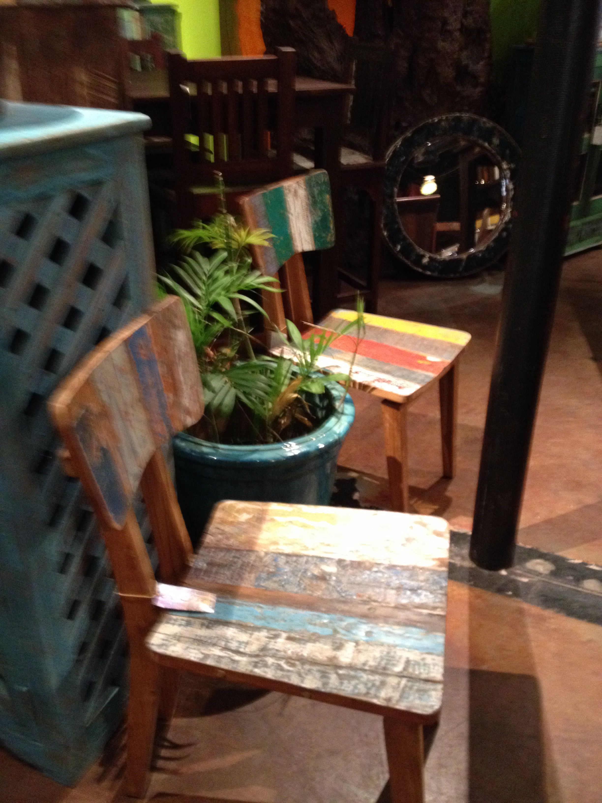Washburn Imports Orlando Florida Has The Best Furniture! Recycled Old Boat  Wood Chairs!