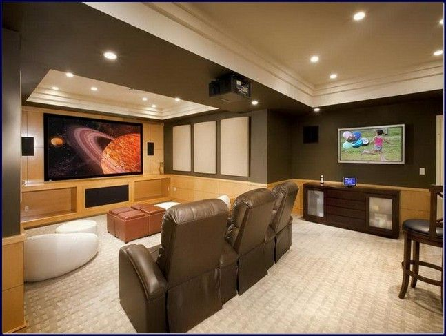 Office on basement design cool small basement ideas bar for Cool basement bedrooms