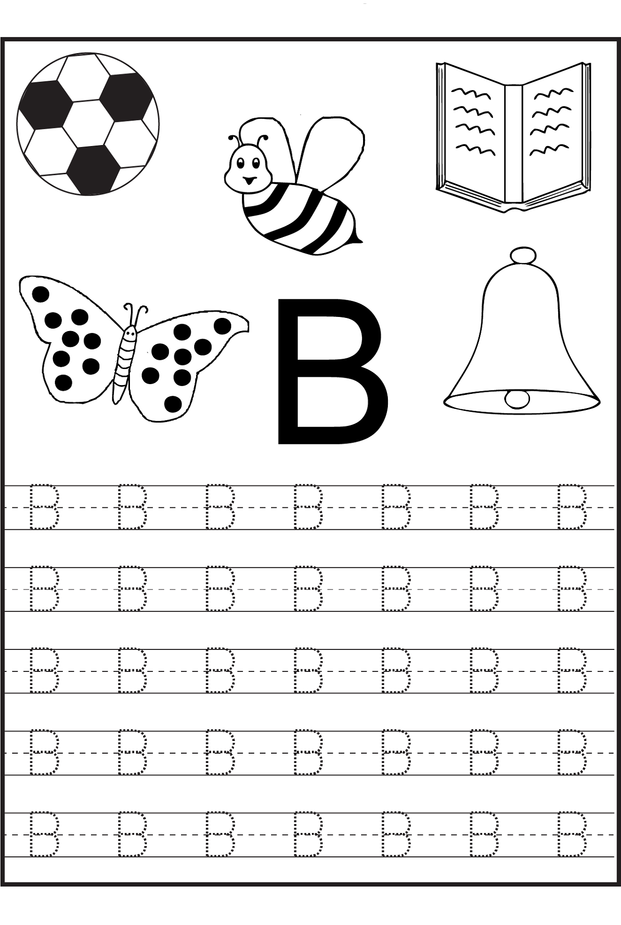 Tracing Alphabet for Writing Practice – Writing Letters Worksheets for Kindergarten