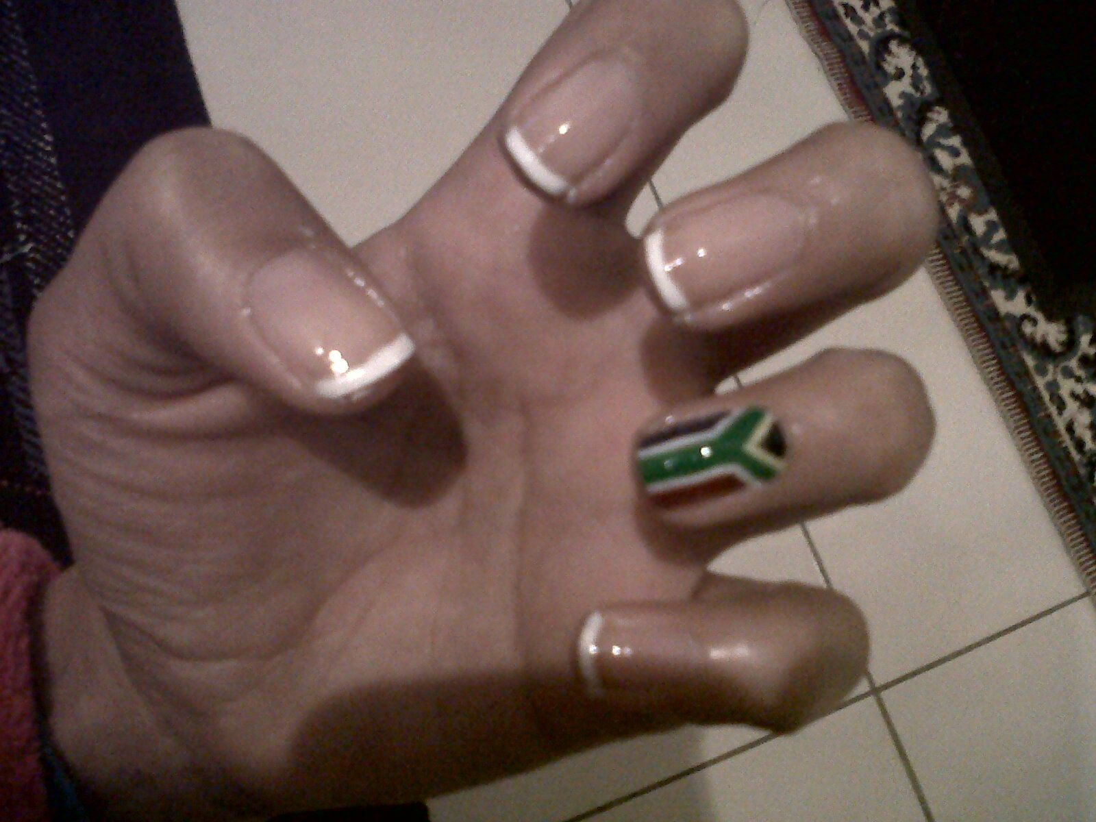 South African flag nail art | Nails, Nails, Nails! | Pinterest ...