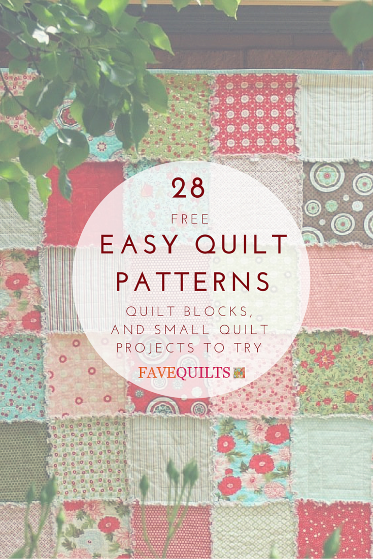 28 Easy Quilt Patterns: Free Quilt Patterns, Quilt Blocks, and ... : block quilt patterns for beginners free - Adamdwight.com