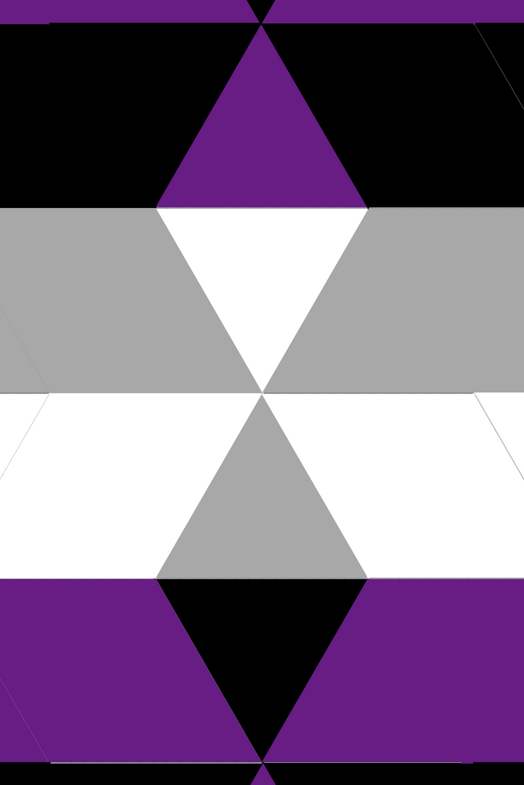 Asexual flag wallpaper