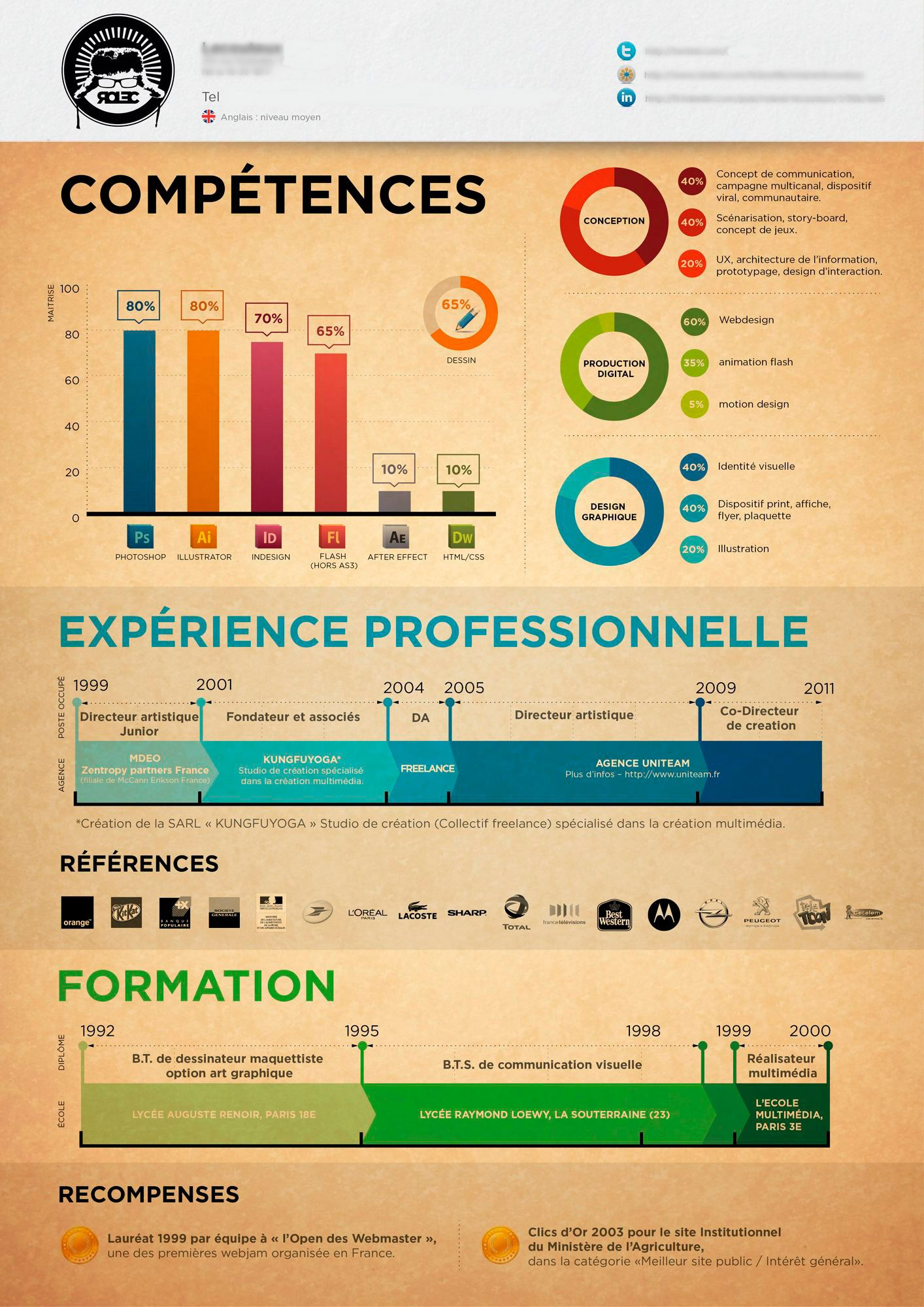 exemple cv design evenementiel