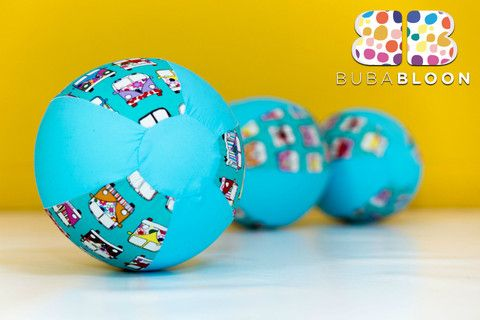 Hippy Chick Turquoise Fabric Balloon Cover from BUBABLOON®