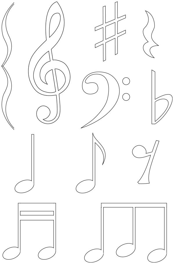 Bien connu Notes de musique | fëte de la musique | Pinterest | Notes de  RQ93