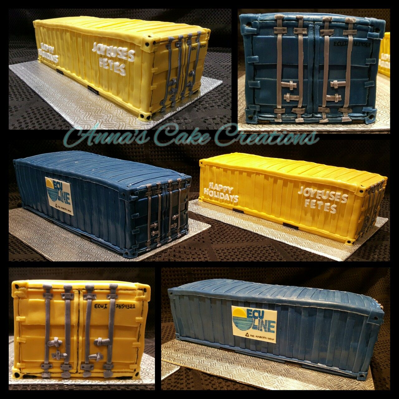 Fabulous Shipping Container Cake With Images Container Anna Cake Funny Birthday Cards Online Aboleapandamsfinfo