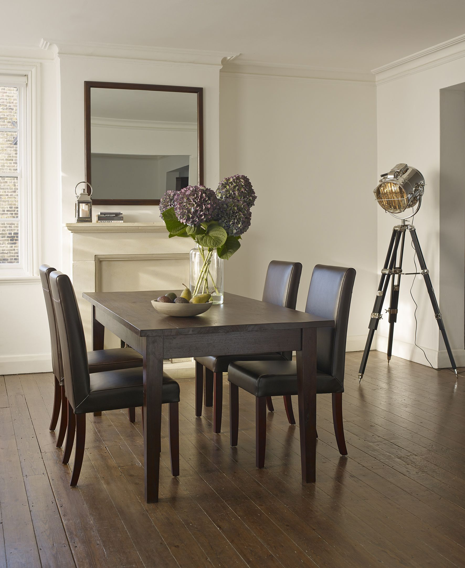 Malang Dark Brown Extendable Dining Table | Teak dining ...