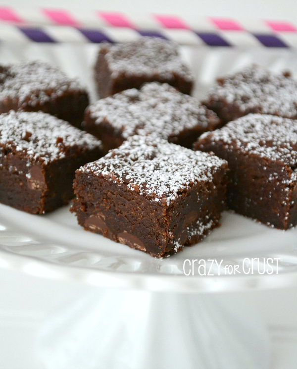 Brownies by  | A rich, dense brownie that's egg and dairy free!