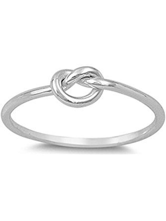 Oval Ring New .925 Sterling Silver Infinity Knot Band