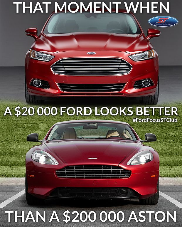 Aston Martin Vs Ford Mondeo >> That S Right Ford Power Ford Mondeo Vs Aston Martin Ford Focus
