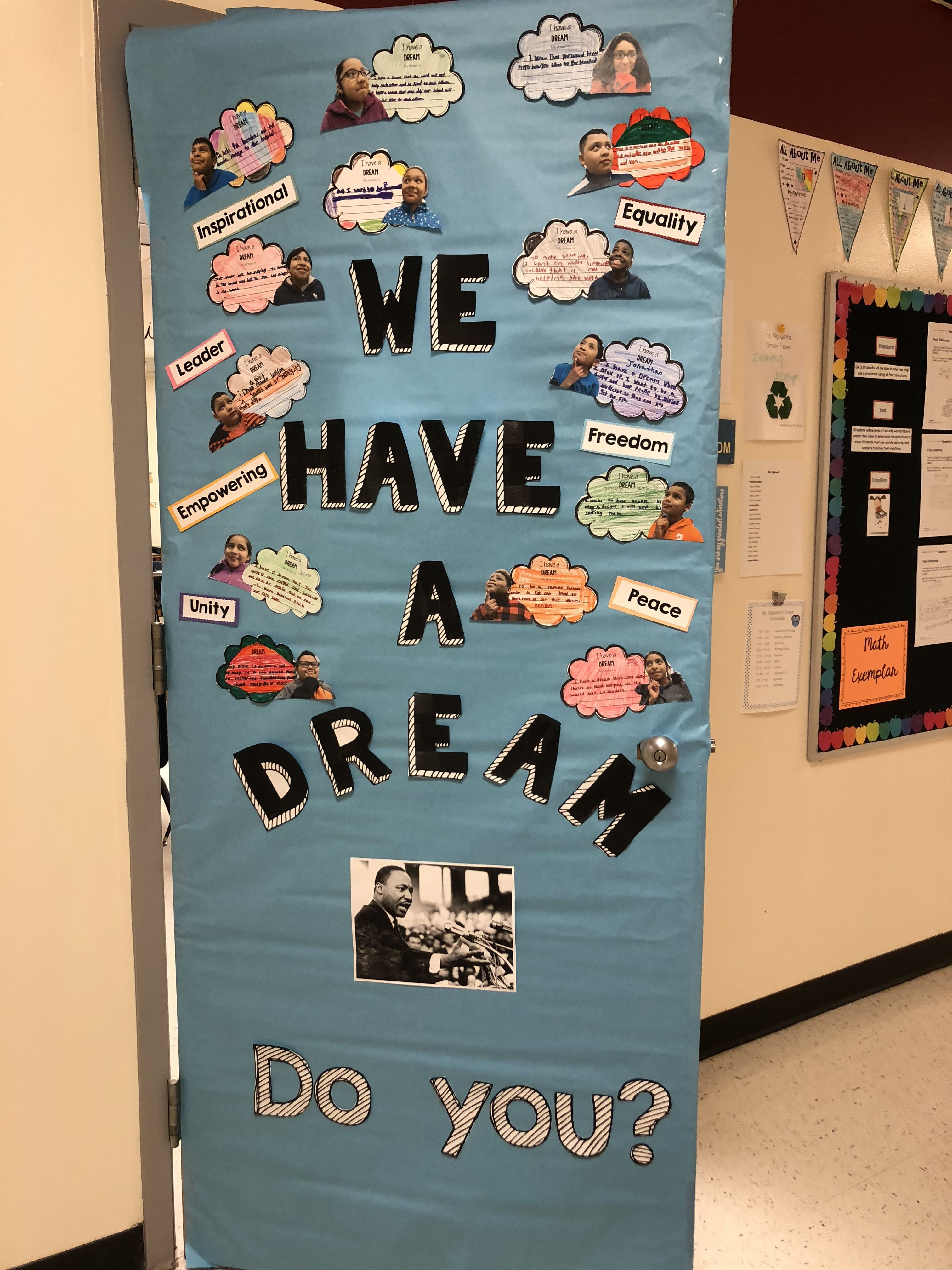 Photo of Black history month door decorating – Martin Luther King Jr. We have a Dream! | …
