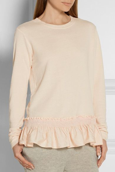 Pastel-pink terry Slips on 51% rayon, 36% cotton, 13% linen; trim1: 55% silk, 45% cotton; trim2: 78% viscose, 19% linen, 3% spandex Dry clean