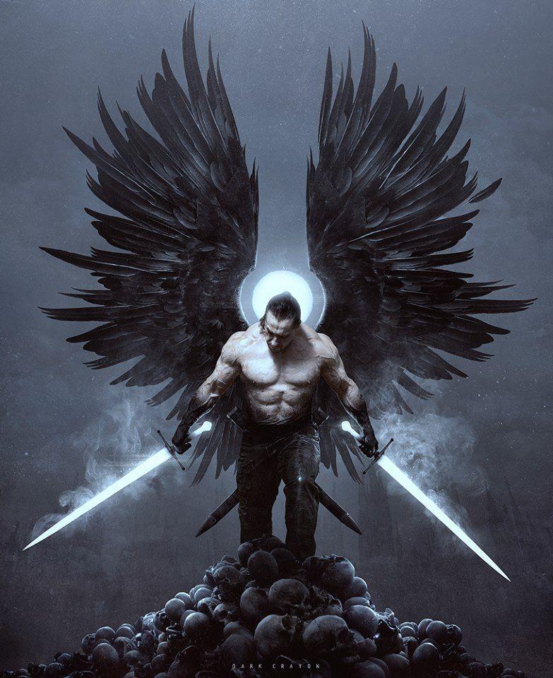Dark Angel Fallen Aasimar Aasimar Angel Wings Man Male