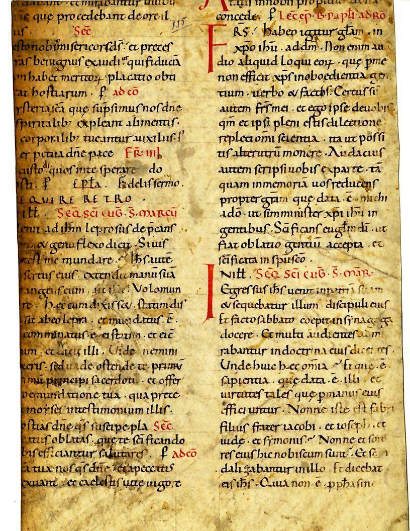 Title: Sacramentary Place: Catalonia Farfel #74 Note: Carolingian miniscule, 11th Century