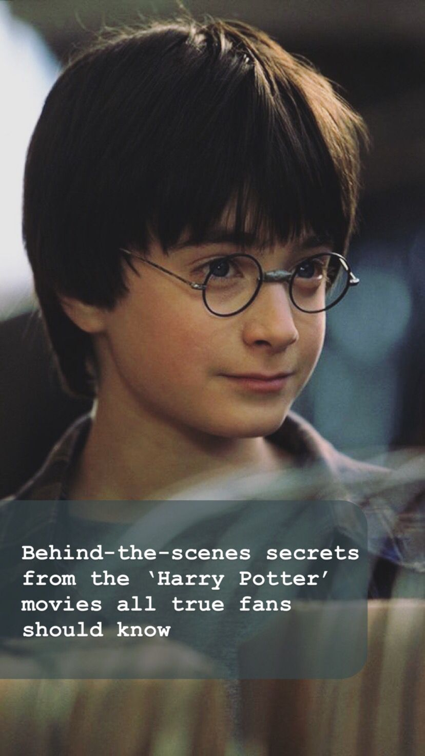 15 behind-the-scenes secrets from the 'Harry Potter ...Young James Potter Scene