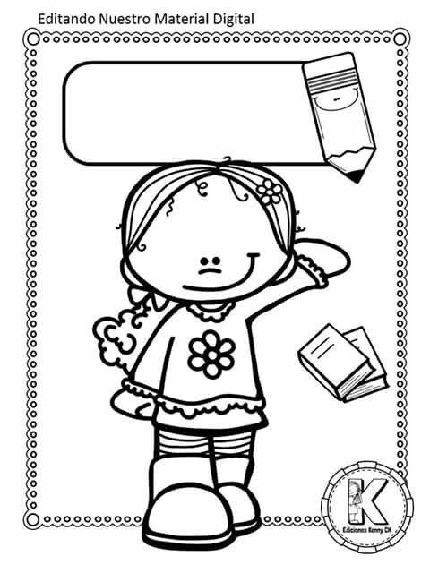 Letrero | PORTADAS PARA LIBROS O CUADERNOS | Pinterest | School ...