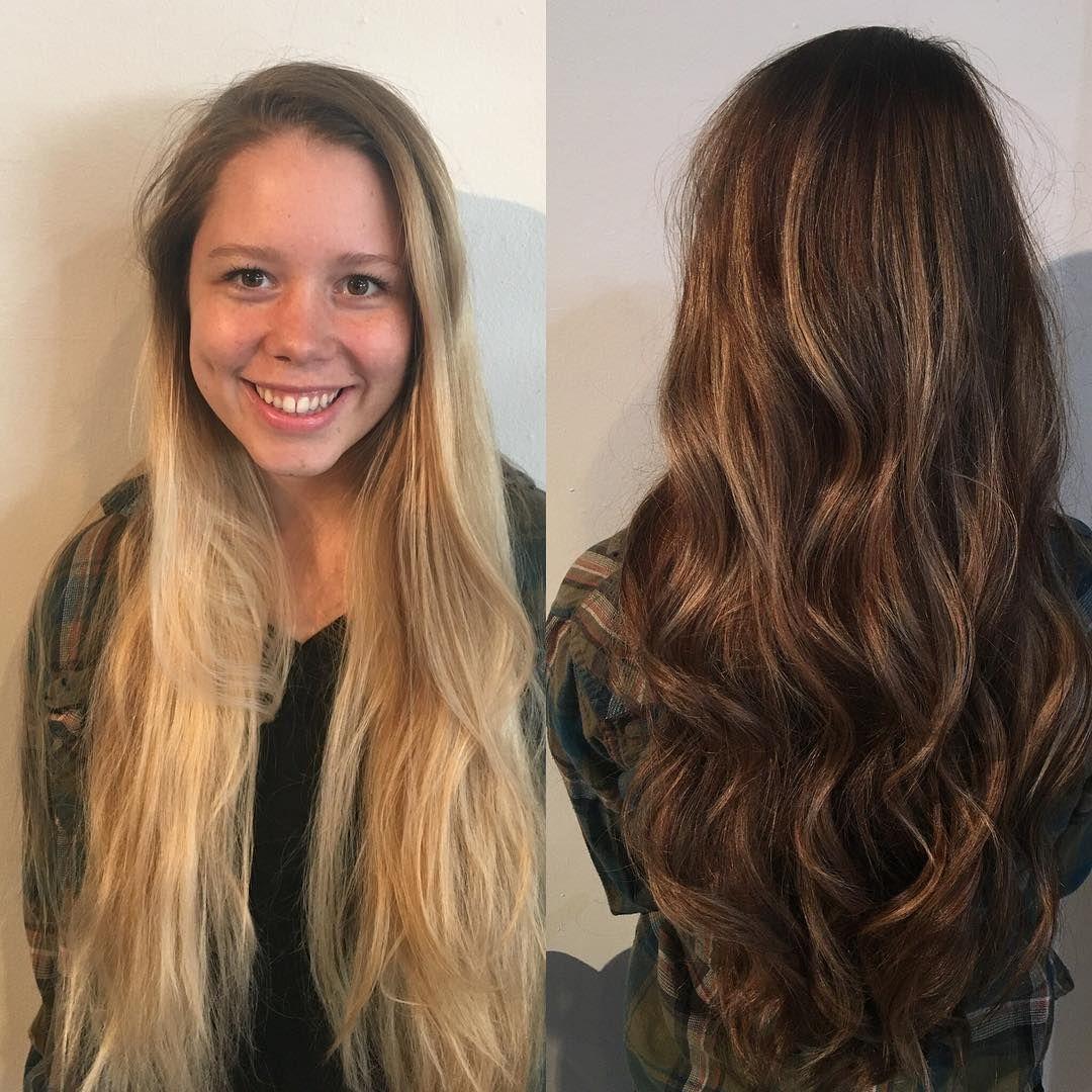 Hair Trends 2016 Reverse Balayage Makes It Look Like Overgrown Peroxide Is On Purpose Metro News Reverse Balayage Brunette Hair Color Balayage