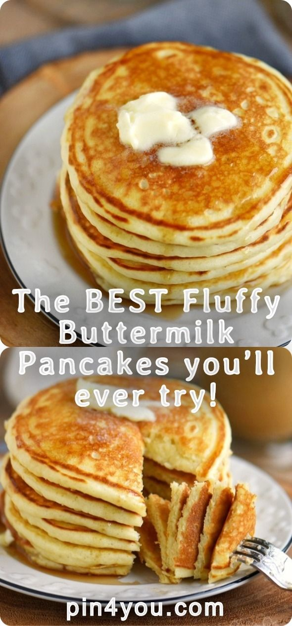 The Best Fluffy Buttermilk Pancakes You Ll Ever Try Buttermilk Pancakes Fluffy Buttermilk Pancakes Pancake Recipe Easy