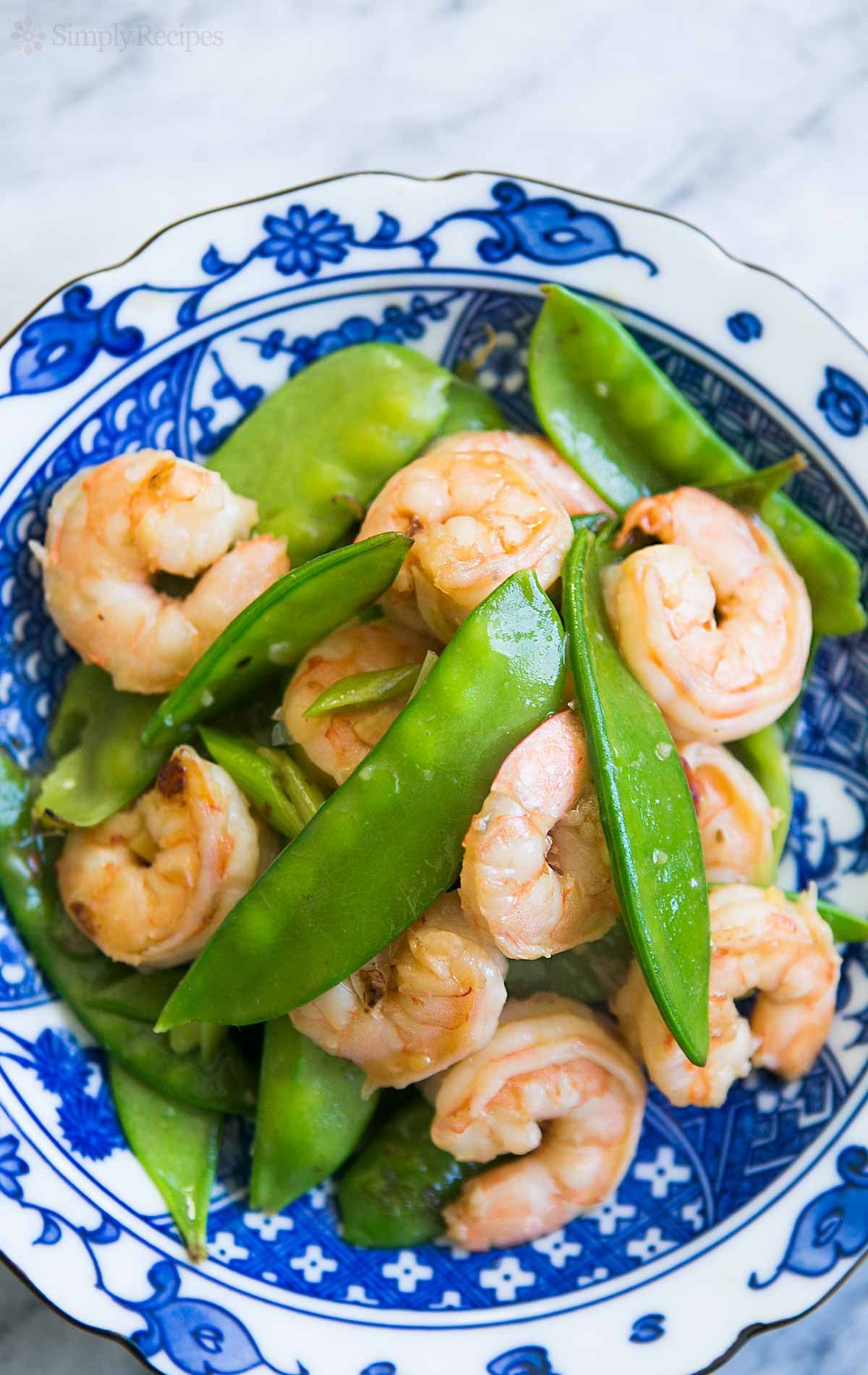 Shrimp with Snow Peas Recipe   SimplyRecipes.com