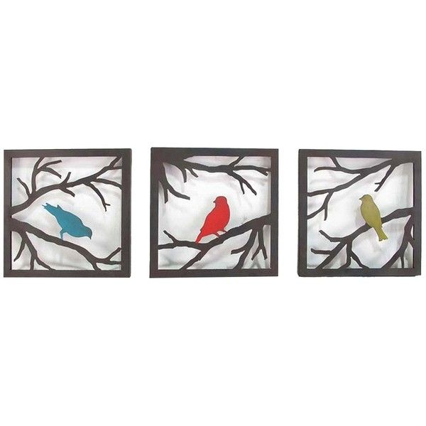 Birds On Branch Square Wall Sculpture