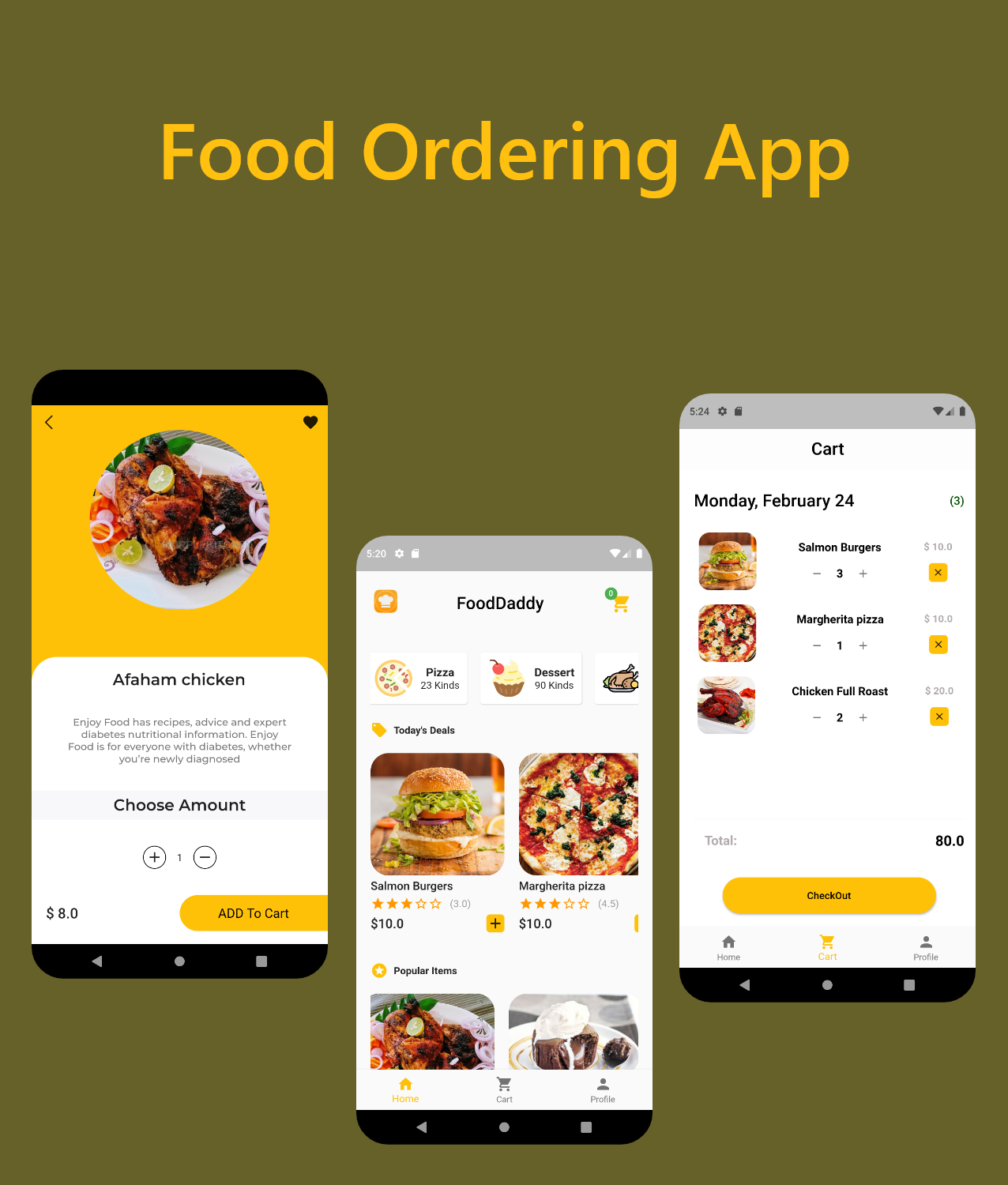 Food Ordering App By Flutter in 2020