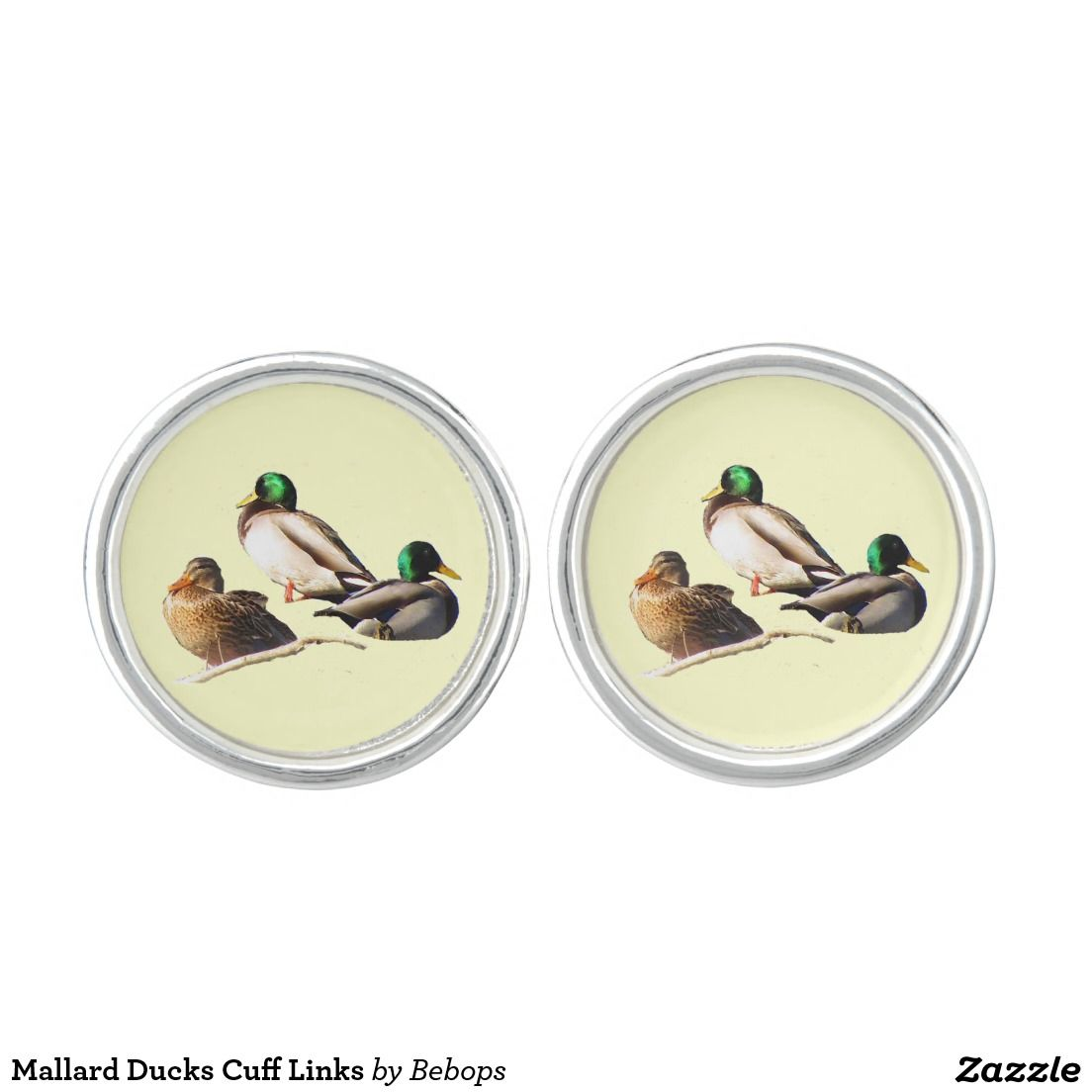 Mallard Ducks Cuff Links Cufflinks