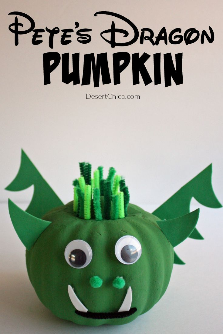 DIY Pete\u0027s Dragon Pumpkin Pinterest Fun halloween crafts - Halloween Decorations For Kids