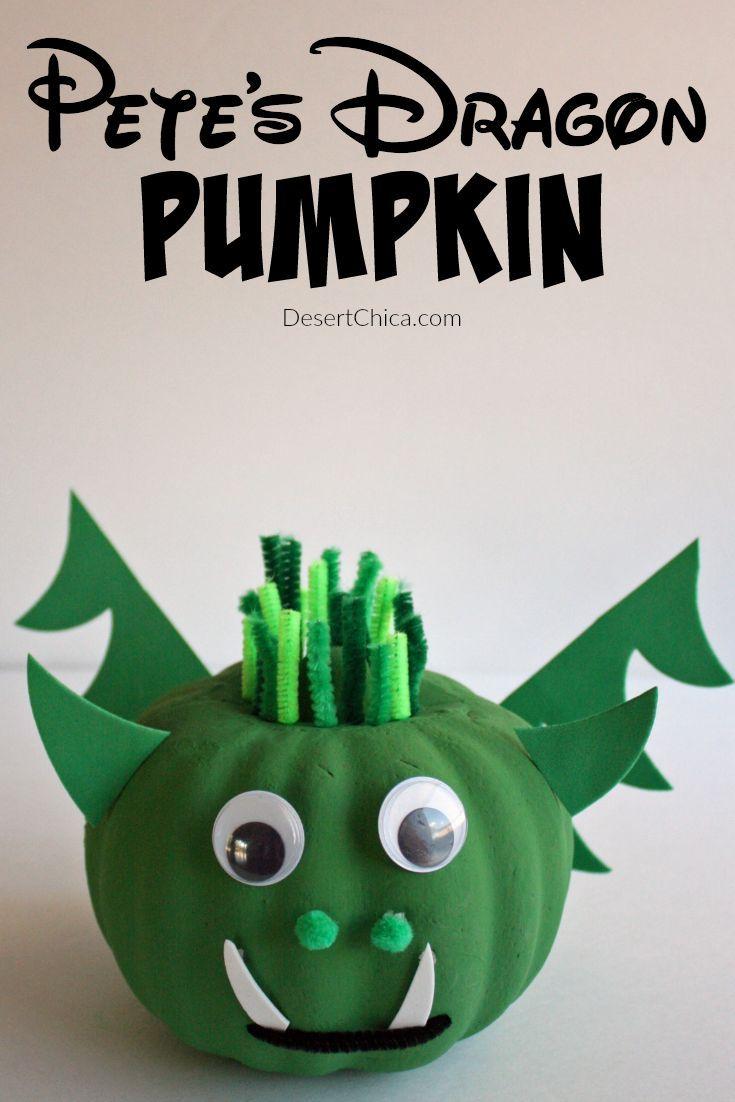 DIY Pete\u0027s Dragon Pumpkin Pinterest Fun halloween crafts - Halloween Decorations For Kids