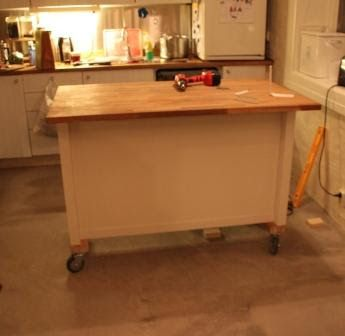 Large Central Kitchen Island On Wheels  Google Search  Diy Mesmerizing Kitchen Island On Casters Inspiration