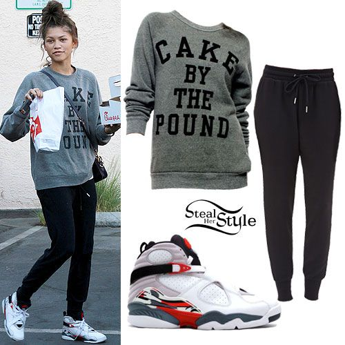 Zendaya: 'Cake By The Pound' Sweatshirt with Chuck Taylor's instead