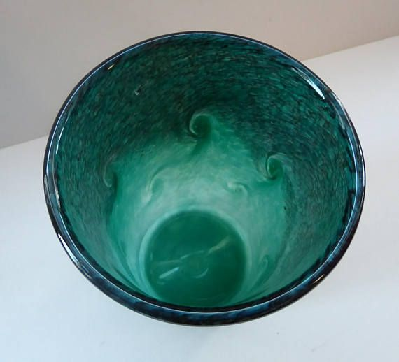 This Is A Lovely Vintage Scottish Art Glass Vase Dating To The 1960s