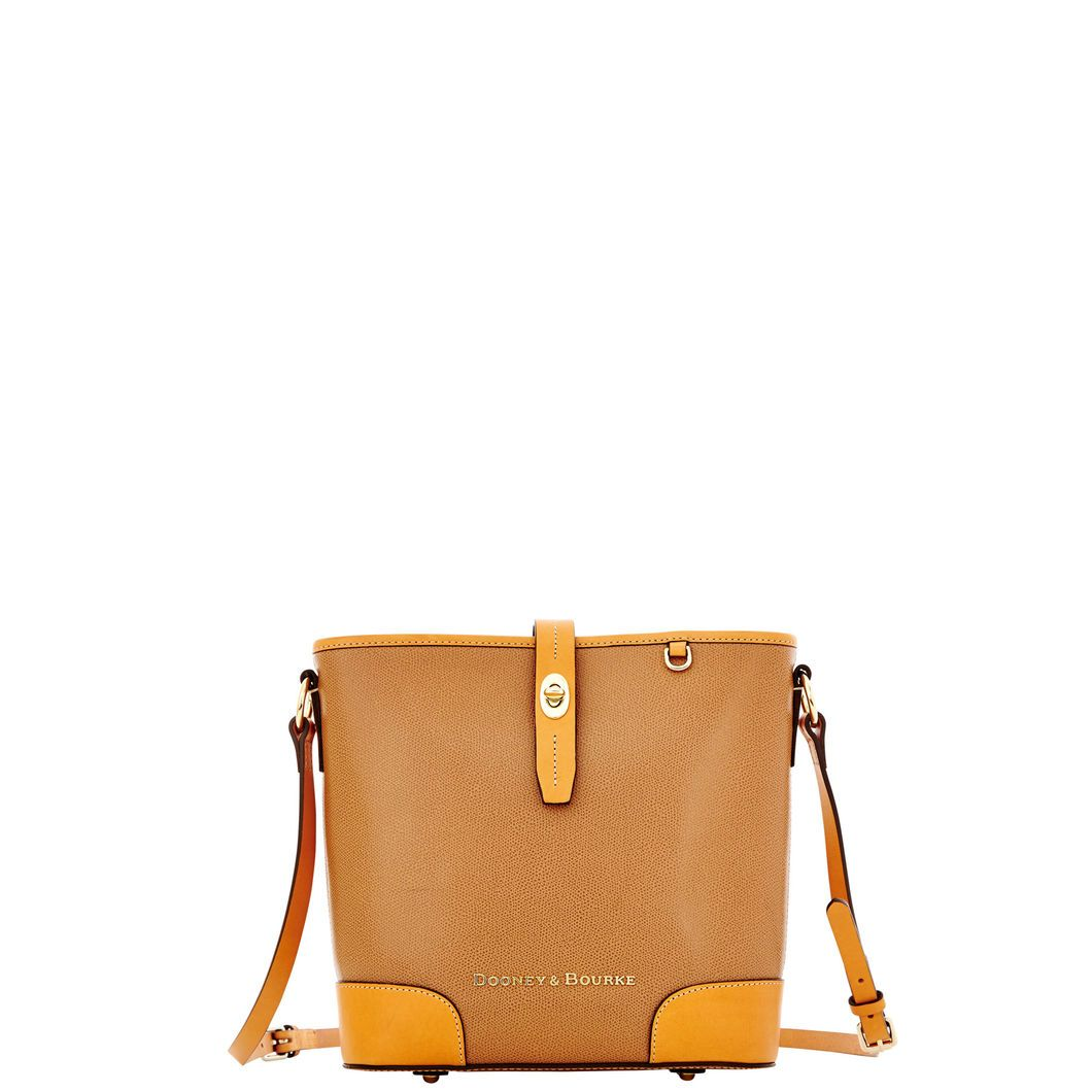 Dooney & Bourke | Claremont Crossbody Bucket | Made of European hides that are tanned in a special four-step process, the Claremont leather has rich color, subtle texture and a durable coated finish.