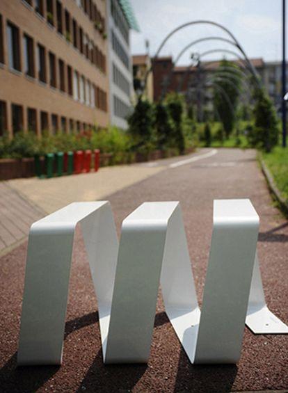 strip ease bench bike rack design lana savettiere for