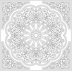 Arabic Floral Patterns Coloring Book by Dover  drawing pages